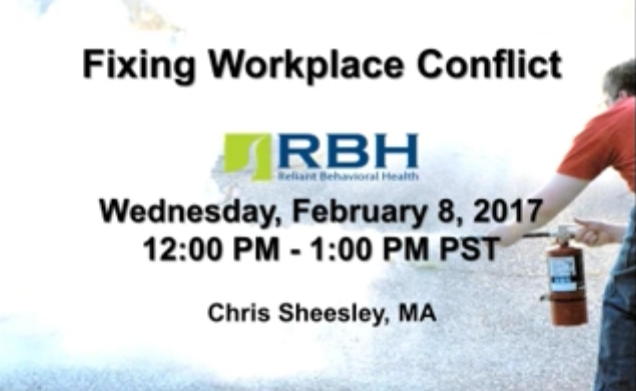 Fixing Workplace Conflict